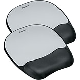 BOGO Fellowes® Memory Foam Mouse Pad/Wristrests, Silver Streak