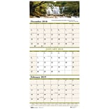 House of Doolittle 2019 Earthscapes™ Three Month Wall Calendar 12-1/4 x 26 Inches (HOD3638)