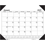 House of Doolittle 2019 Monthly Desk Pad Calendar Economy 22 x 17 Inches (HOD12402)