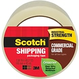 Scotch® Greener Commercial Grade Shipping Packing Tape, 1.88 x 54.6 yds., Clear (3750G-50-CS48)