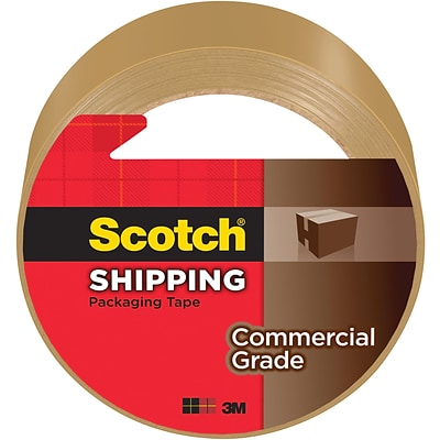 Scotch® Commercial Grade Shipping Packing Tape, 1.88 x 54.6 yds., Tan (3750T)