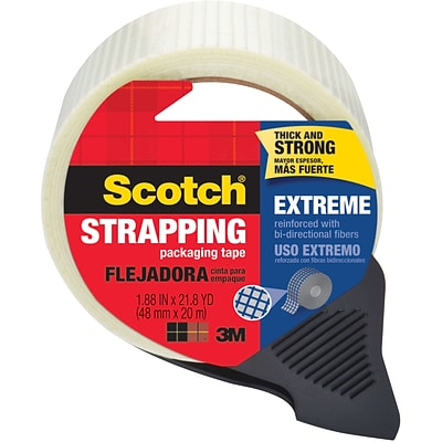 Scotch® Extreme Shipping Strapping Tape with Dispenser, 1.88W x 21.8 Yards, Translucent (8959-RD)