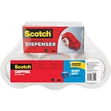 Scotch® Heavy Duty Shipping Packing Tape, 1.88 x 54.6 yds., Clear, 6 Rolls (3850-6-DP3)