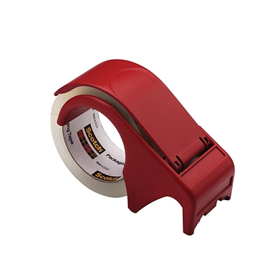 Scotch® Packing Tape Hand Dispenser, 3W Core, Red (DP-300-RD)