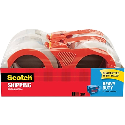 Scotch® Heavy Duty Shipping Packing Tape, 1.88W x 54.6 Yards, Clear, 4 Rolls (3850-4RD)