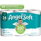 Angel Soft Toilet Paper, 2-Ply, White, 264 Sheets/Roll, 48 Double Rolls/Carton (79019)