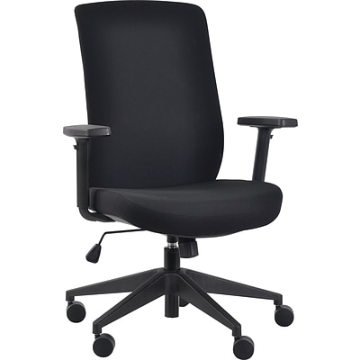 Gene High Back Task Chair, Black Fabric Seat with Black Fabric Back