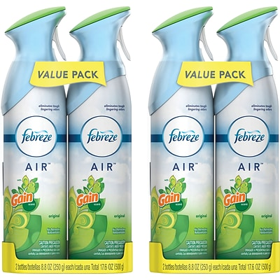 Febreze AIR Freshener with Gain, Original Scent, 8.8 Oz., 4 Count