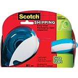 Scotch® Sure Start Shipping Packing Tape with Easy Grip Dispenser, 2 x 25 yds., Clear (DP-1000)