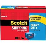 Scotch® Heavy-Duty Packing Tape, 1.88 x 54.6 yds, Clear, 18/Pack