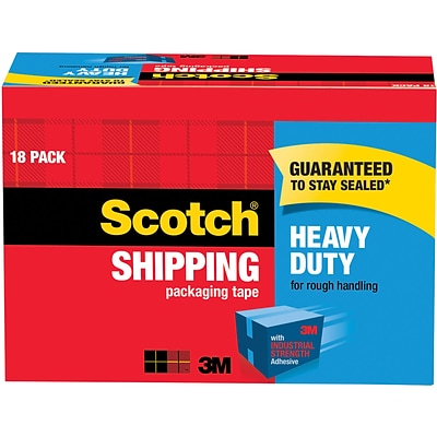 Scotch® Heavy-Duty Packing Tape, 1.88W x 54.6 Yards, Clear, 18 Rolls (3850-18CP)