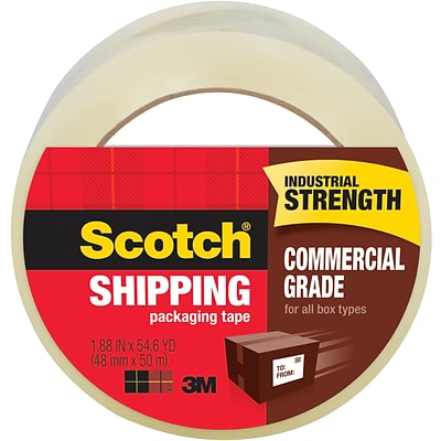 3750-12-DP3 12 Rolls with Refillable Dispenser 1.88 in x 54.6 yd Scotch Commercial Grade Shipping Packaging Tape