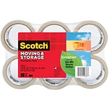 Scotch® Greener Moving and Storage Tape, Clear, 1.88W x 49.2 Yards, 6 Rolls (3650G-6)