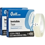 BOGO Quill Brand® Invisible Tape, Matte Finish, 1/2 x 36 yds., 1 Roll (70016028915)