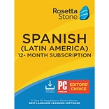 Rosetta Stone Learn Spanish for 1 User, 12 month License, Windows and Mac Download (LFNA7EKYJ72W5EC)