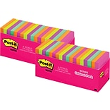BOGO 50% OFF Post-it® Notes, 3 x 3, Cape Town Collection, 18 Pads/ Cabinet Pack (654-18CTCP)