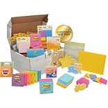 Post-it® Treasure Chest, Assorted Sizes & Assorted Colors, Contents May Vary (ED65V10)