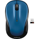 Logitech M325 Optical Wireless USB Mouse, Blue (910-002650)