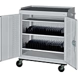Dove Grey Mobile Tablet Storage Cart; 43x36x24