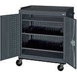 Charcoal Mobile Tablet Storage Cart; 43x36x24