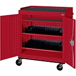 Red Mobile Tablet Storage Cart; 43x36x24
