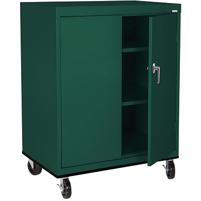 Sandusky® Elite 48 x 36 x 24 Transport Work Height Storage Cabinet, Forest Green