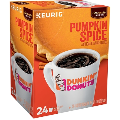 9bda2e5dc6e19 Dunkin' Donuts® Pumpkin Spice Coffee, Keurig® K-Cup® Pods, Medium Roast,  24/Box (5000202812)