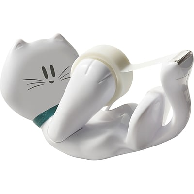 Scotch® KittyTape Dispenser with Scotch® Magic™ Tape, White
