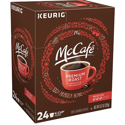 McCafe Premium Roast Coffee, Keurig K-Cup Pods, Medium Roast, 24/Box (5000201379)