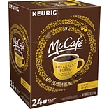 McCafe Breakfast Blend Coffee, Keurig K-Cup Pods, Light Roast, 24/Box (5000201384)