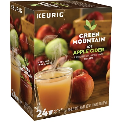 Green Mountain Hot Apple Cider Fruit Brew Seasonal, Keurig® K-Cup® Pods, 24/Box (6201)