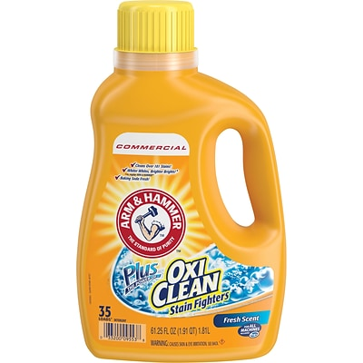 Arm & Hammer Plus OxiClean Concentrated Liquid Laundry Detergent, Fresh Scent, 62.5 oz. Bottle
