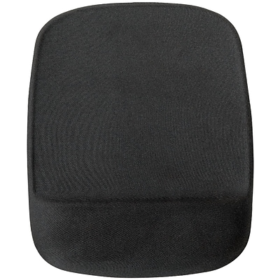 Quill Brand® Foam Mouse Pad/Wrist Rest Combo, Black (23944)