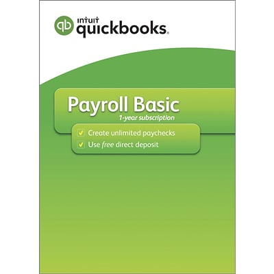 QuickBooks Desktop Payroll Basic 2019, Windows, 1 Year, Download (Q9K29BYP6K5N8YD)
