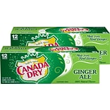 Canada Dry Ginger Ale Soda, 12 oz., 24/Carton (00078000152166)