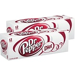 Dr Pepper Diet Original Soda, 12 oz., 24/Carton (78000083163)