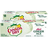 Canada Dry Diet Ginger Ale Soda, 12 oz., 24/Carton (00078000148169)