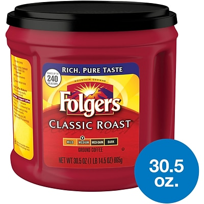 Folgers Classic Roast Ground Coffee, Medium Roast, 30.5 oz. (SMU02042)
