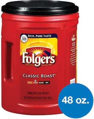 Folgers® Classic Roast® Ground Coffee, Medium Roast, 48 oz. Canister (2550000518)