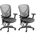 Quill Brand® Carder™ Task Chair, Mesh with Fabric Seat, Black (2PK)