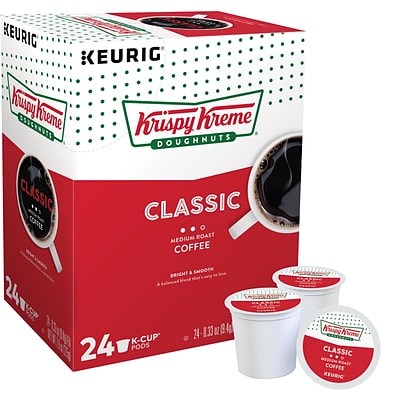 Krispy Kreme Classic Coffee, Keurig K-Cup Pods, Medium Roast, 24/Box (06110)