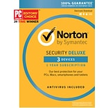 Norton Security Deluxe, 3 Device for Windows/Mac/Andriod/iOS [Boxed]