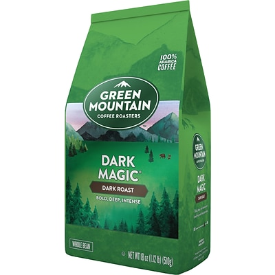Green Mountain Dark Magic Whole Bean Coffee, Dark Roast, 18 oz. (611247375686)