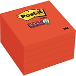 Post-it® Super Sticky Notes, 3x 3, Saffron, 5 Pads/Pack (654-5SSRR)