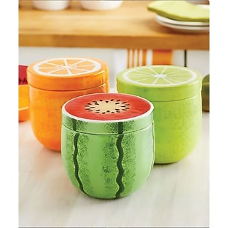 3-pc Fruit Canister Set with $200 order