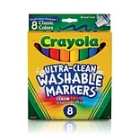 Crayola Classic Kids Markers, Broad Point, Assorted, 8/Pack (58-7808)