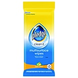 Pledge® Multi-Surface Cleaner Wet Wipes, Cloth, 7 x 10, 25/Pack, 12 Packs/Carton (644080CT)