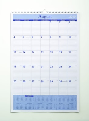 "Quill Brand® Academic 17-Month Wall Calendar 22"" x 15"" (AY20)"