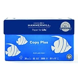 Hammermill Copy Plus 8.5 x 11 Copy Paper, 20 lbs, 92 Brightness, 500/Ream, 10 Reams/Carton (105007