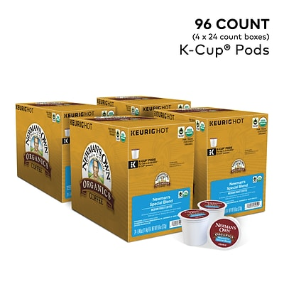 Newmans Own Organics Special Blend Coffee, Keurig K-Cup Pods, Medium Roast, 96/Carton (4050)